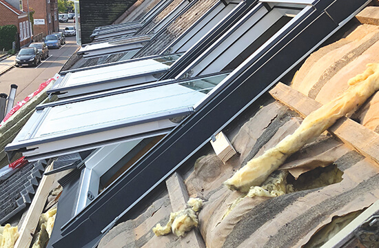 Housebuilding roof windows